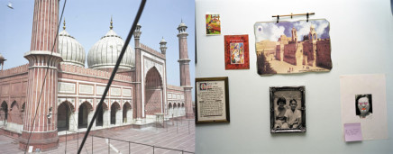 Sunil Gupta, Jama Masjid, Delhi / Blvd. René Lesvesque O., Montréal, 2003