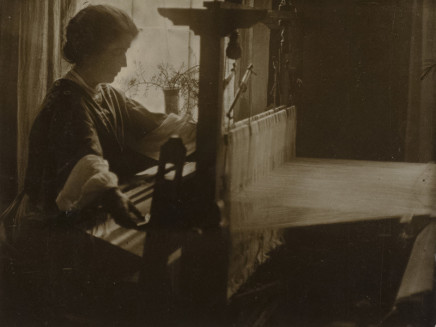 Minna Keene, Weaving the Flax, circa 1910