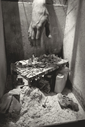 Charles Matton, Alberto Giacometti's Studio Box with Charles Matton's Hand, 1986