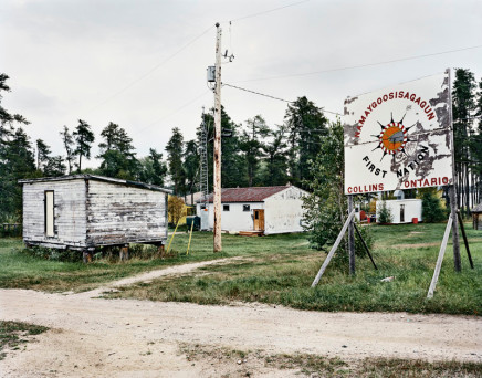 Joseph Hartman, Sign, School and Flour Shed, Collins, ON, 2010