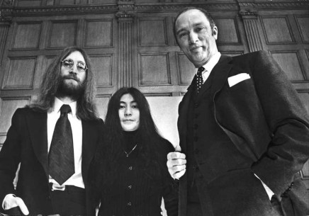 Peter Bregg, John Lennon and his wife, Yoko Ono, in Canada as part of their crusade for peace, meet with Prime Minister Pierre Trudeau on Dec. 24, 1969 in Ottawa, 1969