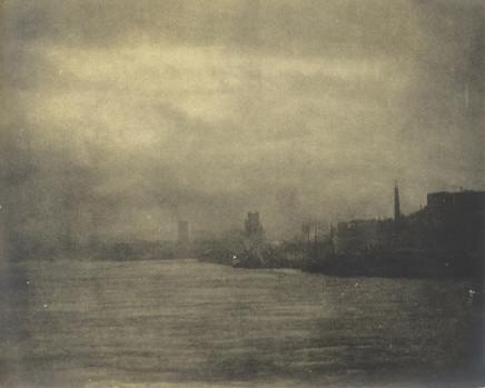 Minna Keene, Foggy River Scene, circa 1895
