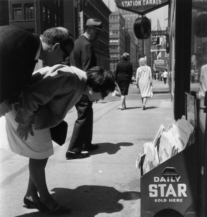 Albert Kish, Star Boy, Corner of Bay and Front, Toronto [Toronto Star Display], 1964