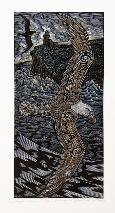 Michel Tuffery, Moana in Flight, view from Aramoana of Tairoa Head, 2018
