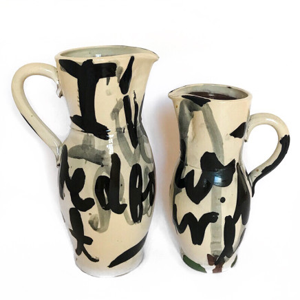 Martin Poppelwell, I've Suffered For My Art , Now It's Your Turn (two jugs), 2018