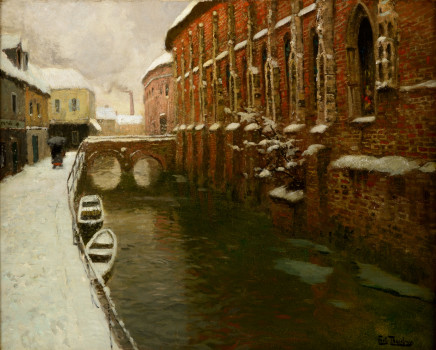 Frits Thaulow, Winter in Amiens, 1904