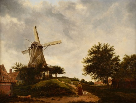 Wybrand Hendriks (Attributed), landscape with a windmill, ca. 1820/25