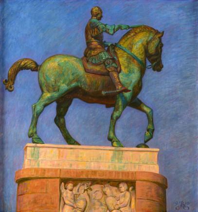 Kristian Zahrtmann, Gattamelata's statue, 1910