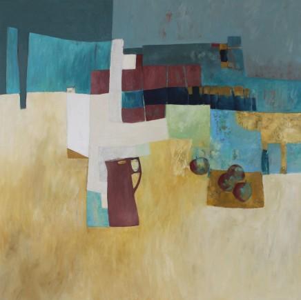 """Teresa Lawton SUNNY SUNDAY Oil on canvas 23.5"""" x 23.5"""""""