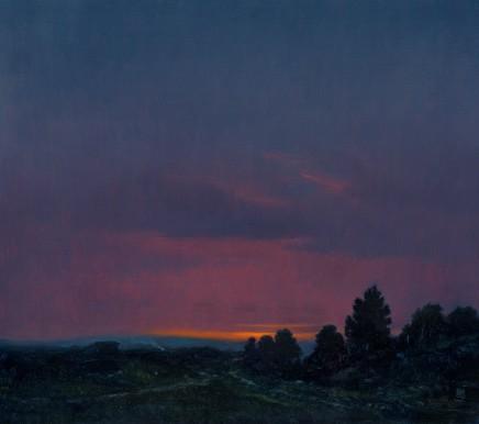 "Michael Bennallack Hart Born 1948THE NEW FOREST Oil on canvas 16"" x 18"""