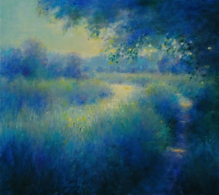 """Norman Smith SOFT LIGHT ON THE RIVER Oil on Board 20"""" X 22"""""""