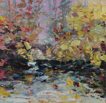 "Paul Treasure Born 1961TEST WINTER Oil on canvas 47"" x 47"""