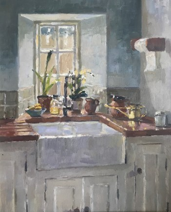 Alice Boggis-Rolfe, KITCHEN SINK WITH A BRASS WATERING CAN