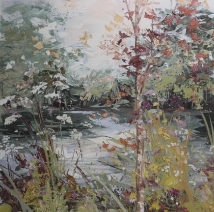 "Paul Treasure Born 1961SILVER PARSLEY Oil on canvas 39.5"" x 39.5"""