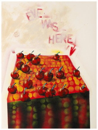 """Chris Gollon EVE WAS HERE Acrylic on paper 30"""" x 22"""""""
