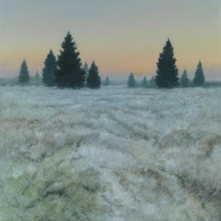 "Michael Bennallack Hart Born 1948WINTER Oil on canvas 30"" X 30"""