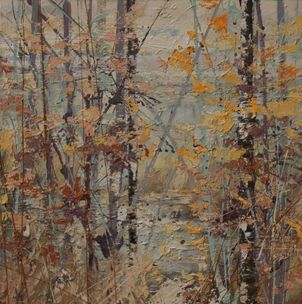 "Paul Treasure Born 1961ALRESFORD LAKE Oil on canvas 40"" X 40"""