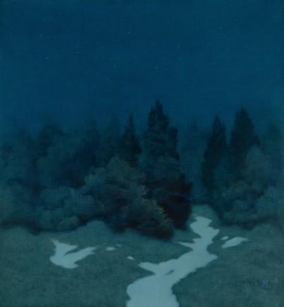 "Michael Bennallack Hart Born 1948THE LAST OF WINTER Oil on canvas 30"" x 28"""