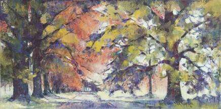 """Frederike Stokhuyzen Born 1938SPRINGTIME, HAMPSHIRE Oil on canvas 12"""" X 23.5"""""""