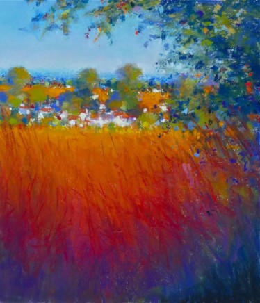 """Norman Smith Born 1949FIELDS AND HOUSES Pastel on Paper 24"""" X 21"""""""