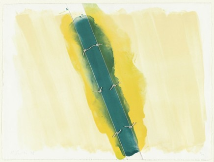 Richard Smith, Lawson Set 1 (green tied in 3 sections), 1973