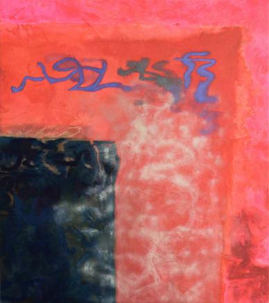 Haven/Harbor, 2018 Viktorie Langer Acrylic on cotton canvas 72 7/8 x 65 inches 185 x 165 cm