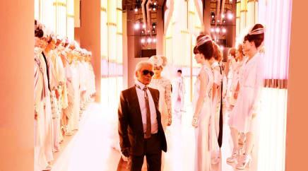 Chanel Karl and Brides, Haute Couture 2010, Rue Cambon, Paris Simon Procter C-print 47 1/4 x 85 1/8 inches 120 x 216 cm Edition 1/10, plus 2AP