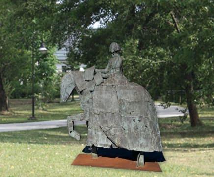 Dama a Caballo, 2009 Manolo Valdés Bronze 103 1/2 x 94 1/2 x 35 3/8 inches 263 x 240 x 90 cm