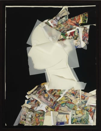 Perfil III, 2015 Manolo Valdés Collage 47.24 x 35.43 inches (120 x 90 cm)