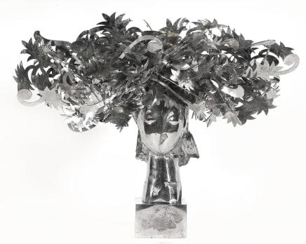 Ada Cabeza con Flores Plateadas, 2010 Manolo Valdés Aluminum 31.1 x 39.76 x 22.05 inches (79 x 101 x 56 cm) Edition 3/9