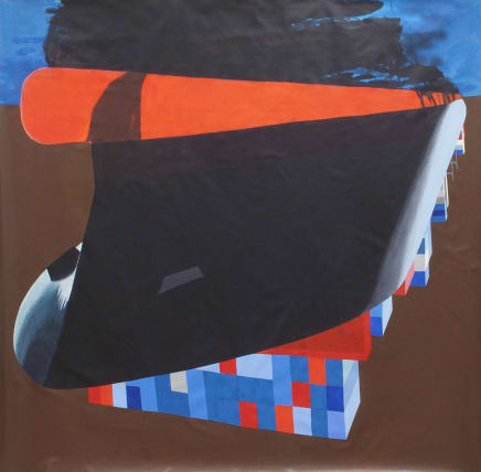 Freighter, 2018 Viktorie Langer Acrylic on canvas 90 1/2 x 78 3/4 inches 230 x 200 cm