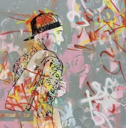 Drifter, 2019 Adam Spear Mixed media on canvas 48 x 48 inches 121.9 x 121.9 cm