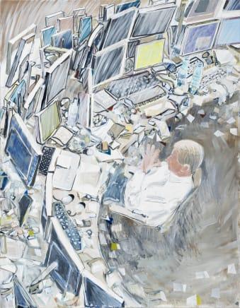 Zukunft war Gestern (Future Was Yesterday), 2013 Thomas Hartmann Oil on canvas 70 7/8 x 55 1/8 inches 180 x 140 cm