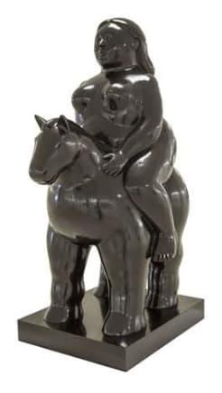Donna a Cavallo, 2007 Fernando Botero Bronze 47 1/4 x 35 x 23 1/4 inches (120 x 88.9 x 59.1 cm) Edition 5/6