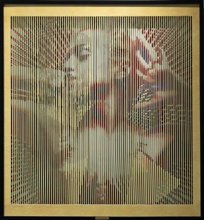 Golden Desire, 2018 Mateo Blanco Mixed media 43 x 47 inches 109.2 x 119.4 cm Edition 1/9