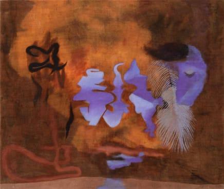Jinn lamp, 2018 Viktorie Langer Acrylic on canvas 33 1/2 x 39 3/8 inches 85 x 100 cm