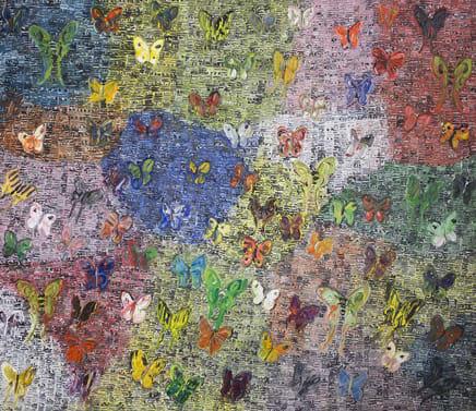 Birthday, 2015 Hunt Slonem Oil on canvas 72 x 84 inches 182.9 x 213.4 cm