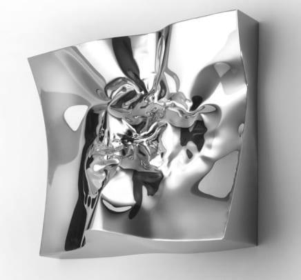 Light Rays, 2014 Helidon Xhixha Mirror-polished stainless steel 26.77 x 27.56 x 7.48 inches (68 x 70 x 19 cm)