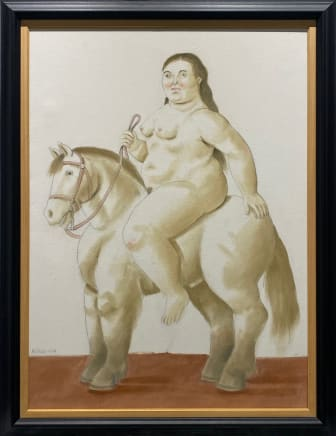 Woman on a horse, 2004