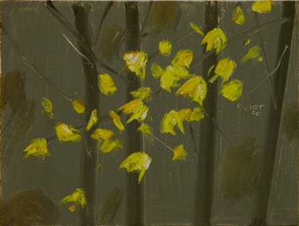 Yellow Leaves #5, 2006 Alex Katz Oil on board 9 x 12 inches (22.9 x 30.5 cm)