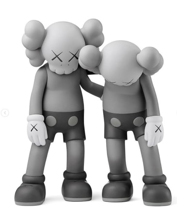 Along the Way (Gray - Set), 2019 KAWS Vinyl 10 1/2 x 9 x 5 inches / each 26.7 x 22.9 x 12.7 cm Open Edition