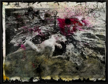 In Between, 2012 Raphael Mazzucco Archival print, oil paint and mixed media encased in resin 62 x 80 inches (157.5 x 203.2 cm)