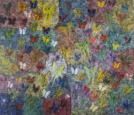 Buckeyes, 2016 Hunt Slonem Oil on canvas 72 x 84 inches (182.9 x 213.4 cm)
