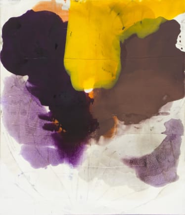 Harbor, 2011  Dirk De bruycker  Asphalt, cobalt drier, gesso and oil on cotton duck canvas  84 x 72 inches (213.4 x 182.9 cm)