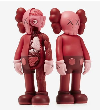 Companion Blush (Set), 2019 KAWS Vinyl and paint 11 1/8 x 4 3/4 x 2 3/4 inches / each 28 x 12 x 7 cm Open Edition