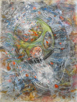 La terre et ses oignons, 1994 Roberto Matta Oil on canvas 108 x 82 1/8 inches 274.3 x 208.3 cm