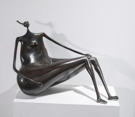 Estudio, En las nubes II, 1998 Abigail Varela Bronze with brown patina 15 x 19 1/4 x 19 3/4 inches 38 x 49 x 50 cm Edition of 8