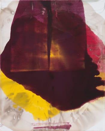 Group of 3, 2014  Dirk De Bruycker  Asphalt, cobalt drier, gesso and oil on cotton duck canvas  30 x 24 inches (76.2 x 61 cm)