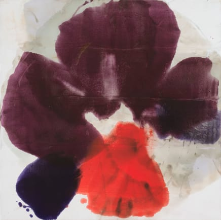 Sea Flower III, 2014  Dirk De Bruycker  Asphalt, cobalt drier, gesso and oil on cotton duck canvas  60 x 60 inches (152.4 x 152.4 cm)