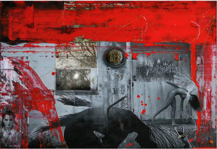 Per Sempre Raphael Mazzucco Archival print and mixed media encased in resin 42 x 62 inches (106.7 x 157.5 cm)